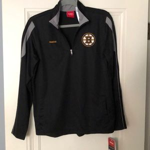 Young Men's Bruins zip-front pullover